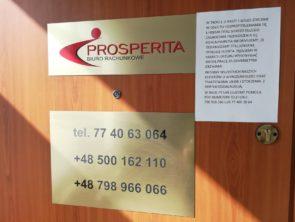 Środki bezpieczeństwa w Biurze Rachunkowym Prosperita w trakcie epidemii